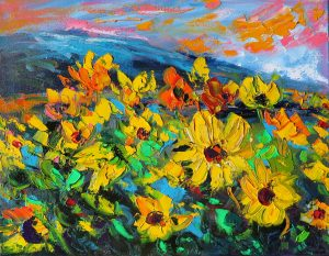 Mountain Sunflowers by Helen Blair