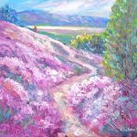 Wild Thyme Hills, Alexandra, original oil by Helen Blair