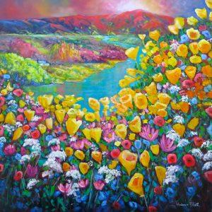 Poppies & Wildflowers-Alexandra, by Helen Blair, original art