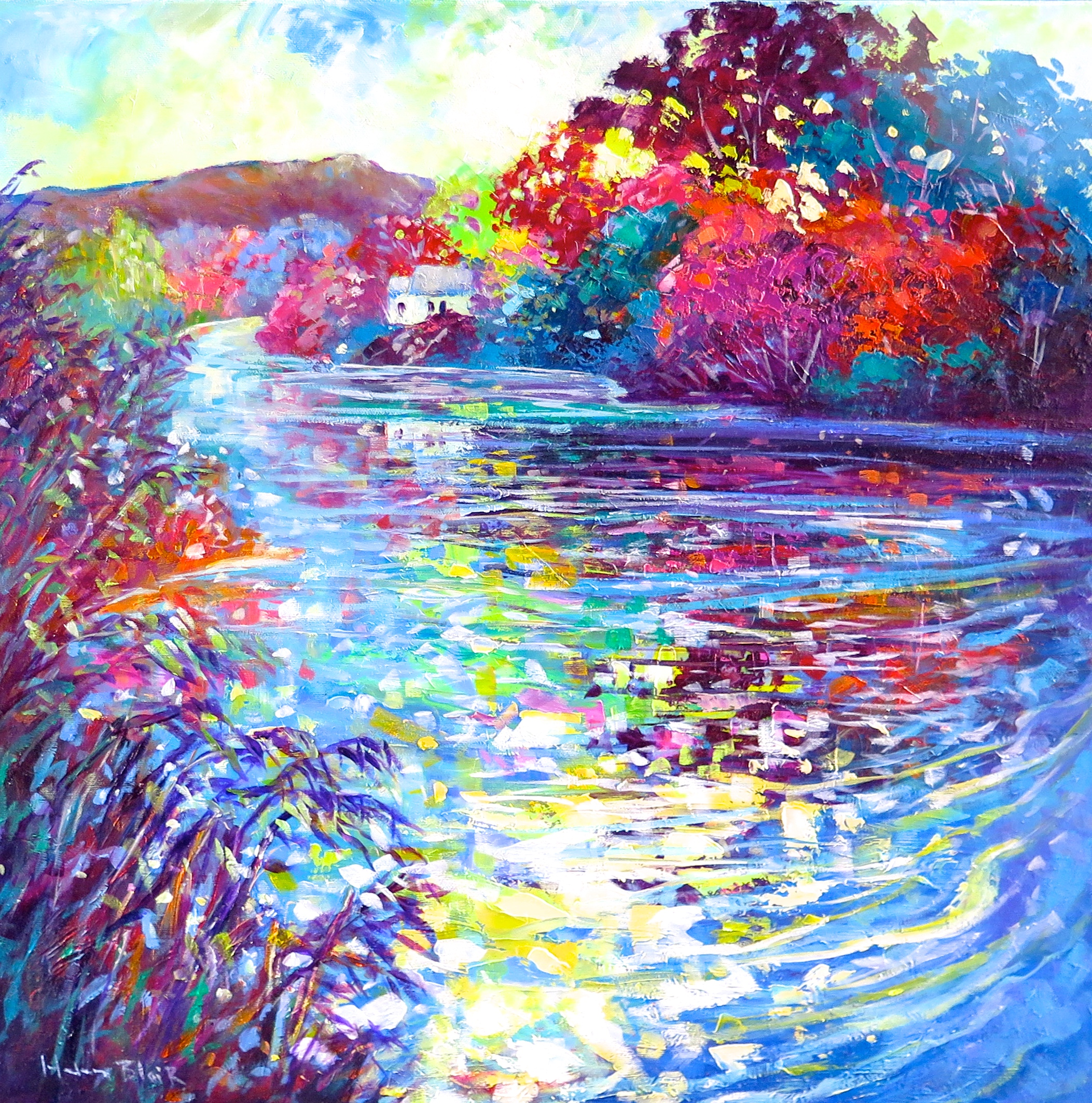 River Cottage Reflections, by Helen Blair.