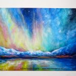 Moke Lake Aurora Postcard Magnet by Helen Blair