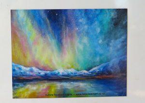 Aurora Southern Lights, Queenstown, Moke Lake, helenblairsart