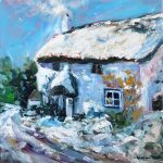 Snowy Cottage, by Helen Blair