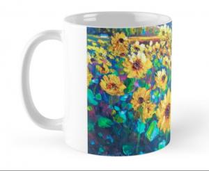 Sunflowers Mug by Helen Blair