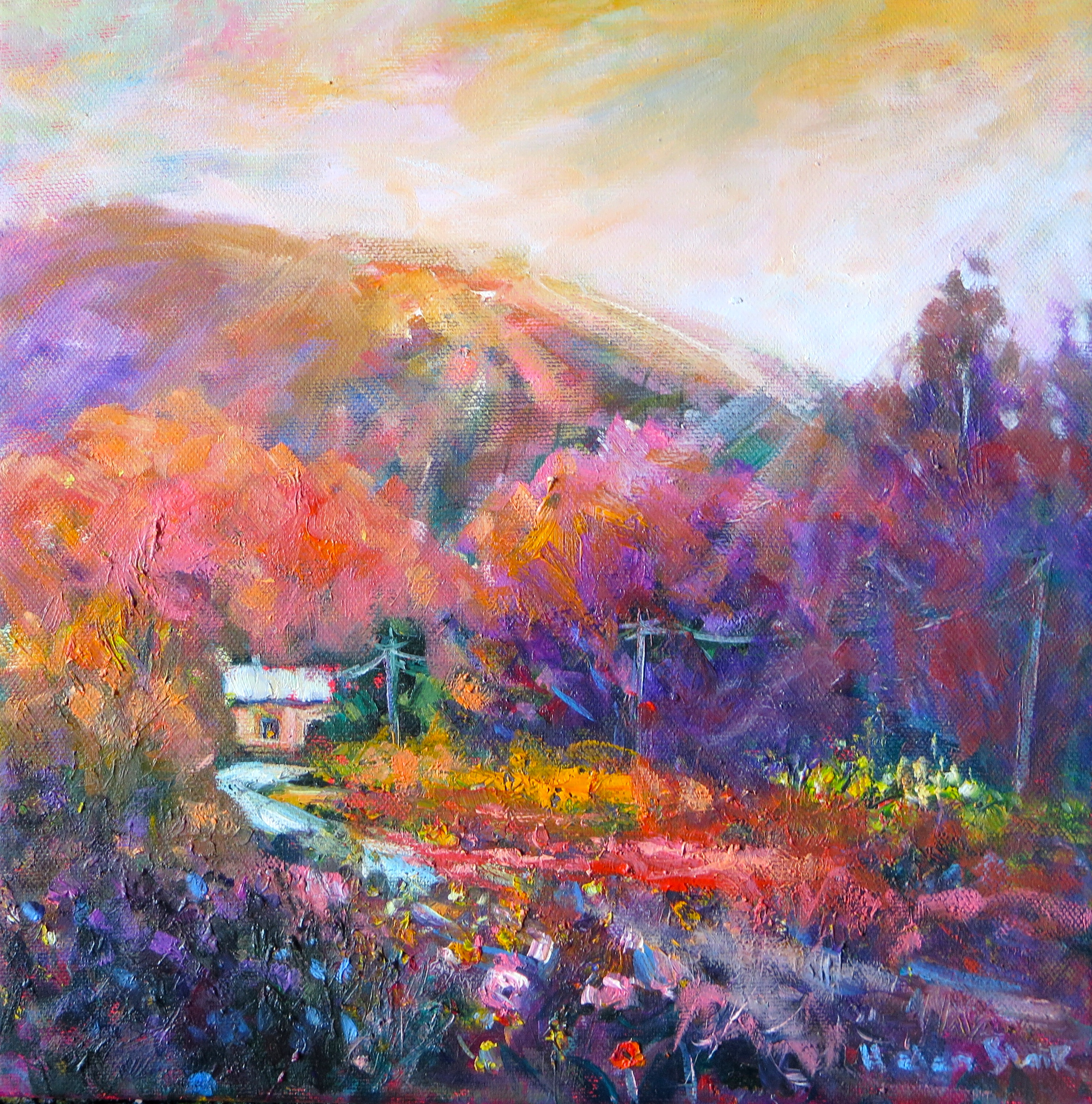 mountain cottage by Helen Blair