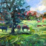 Cows Grazing by Helen Blair