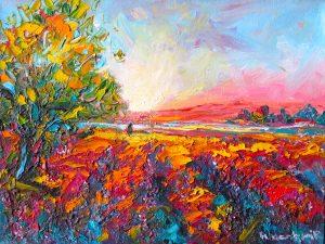 Field of flowers by Helen Blair