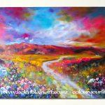 Postcard Magnet - Mountain Prairie Wildflowers by Helen Blair