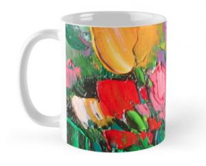 Tulips Mug by Helen Blair