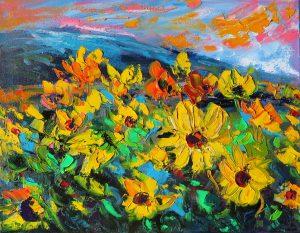 Mountain Sunflowers by Helen Blair