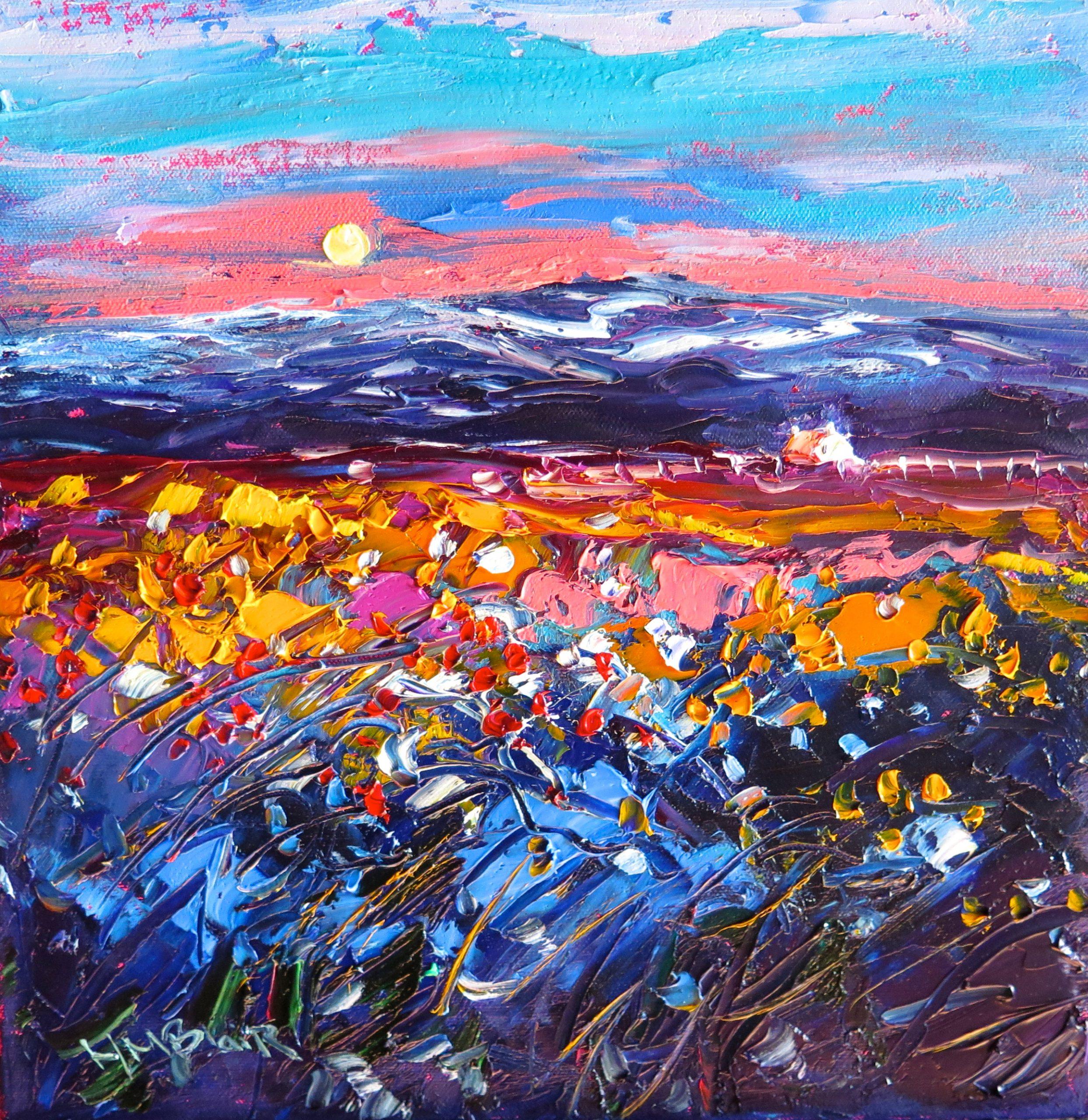 Moonlight mountain Prairie by Helen Blair