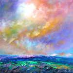 Mountain Prairie Stormy Sky by Helen Blair