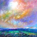 Mountain Prairie Stormy Sky by Helen Blair